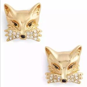 Kate Spade 12k gold plated Foxy gold stud earring
